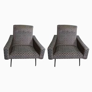 French Lounge Chairs by Joseph André Motte for Steiner, 1950s, Set of 2