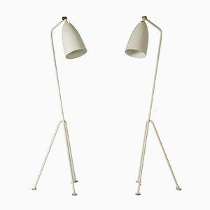 Lámparas de pie modelo Grasshopper de Greta Magnusson Grossman para Bergboms, años 50. Juego de 2