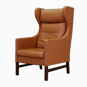 Vintage Danish Leather Armchair by Svend Skipper, 1960s