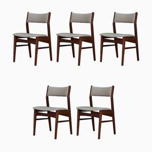 Mid-Century Danish Teak Dining Chairs, 1970s, Set of 5
