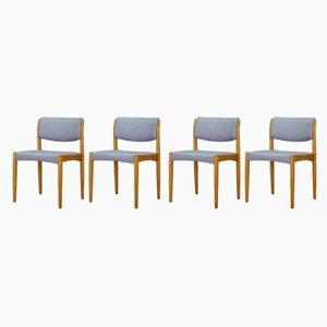 Dänische Vintage Esszimmerstühle aus Eschenholz von H.W. Klein für Bramin, 1970er, 4er Set