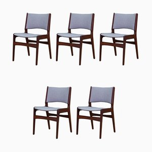 Mid-Century Danish Teak Dining Chairs by Johannes Andersen, 1960s, Set of 5