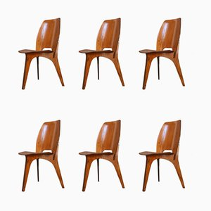 Mid-Century Dining Chairs by Eugenio Gerli for Tecno, 1958, Set of 6