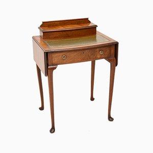 Antiker edwardianischer Schreibtisch aus Mahagoni & Leder