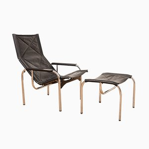 Vintage Model HE1106 Lounge Chairs by Hans Eichenberger for Strässle, Set of 2