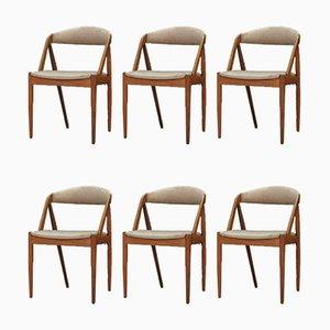Chaises de Salle à Manger par Kai Kristiansen, années 60, Set de 6