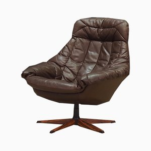 Leather Lounge Chair by H. W. Klein, 1970s