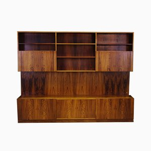 Rosewood Wall Unit by Ib Kofod Larsen for Faarup Møbelfabrik, 1960s