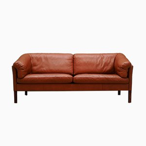 Vintage Danish Leather Sofa