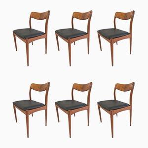 Chaises de Salle à Manger en Teck par Johannes Andersen pour Uldum Møbelfabrik, années 60, Set de 6