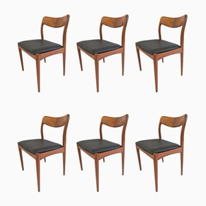 Teak Dining Chairs by Johannes Andersen for Uldum Møbelfabrik, 1960s, Set of 6