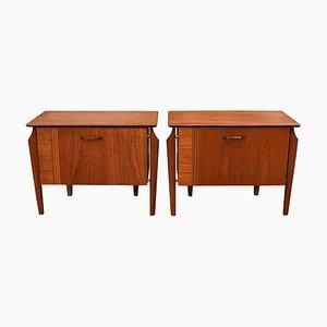 Tables de Chevet en Teck de WéBé, années 50, Set de 2