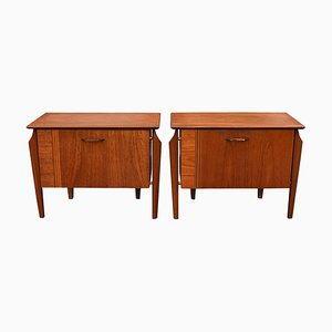 Teak Nightstands from WéBé, 1950s, Set of 2