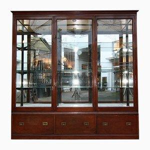 Mueble inglés victoriano antiguo grande de caoba, década de 1900
