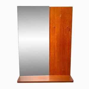Mid-Century Modell D304 Wandspiegel mit Rahmen aus Teak