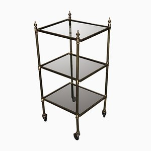 Hollywood Regency French Brass Drinks Trolley, 1950s