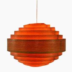 Lampe à Suspension en Contreplaqué par Hans-Agne Jakobsson pour Ellyset, années 60