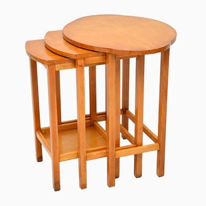 Satinwood Nesting Tables, 1920s