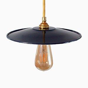 Lámpara de techo Bauhaus vintage esmaltada, años 30
