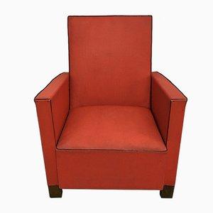 Sedia da bambino Mid-Century in similpelle rossa