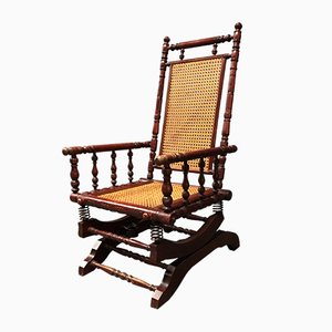 Vintage Dutch Farmhouse Rocking Chair, 1920s