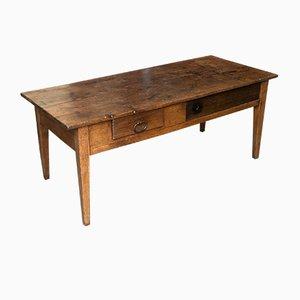 Mesa de comedor rústica francesa antigua