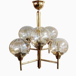Lámpara de araña de latón, años 60