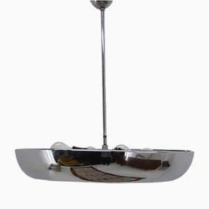 Chrome Pendant Lamp by Josef Hurka for Napako, 1930s