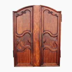 18th Century Louis XV Style Walnut Cabinets, Set of 2
