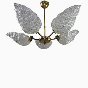 Lámpara de araña de vidrio de JT Kalmar para Kalmar, años 60
