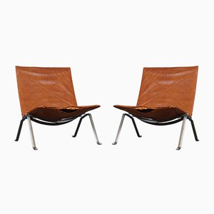 Mid-Century Model PK22 Lounge Chairs by Poul Kjærholm for E. Kold Christensen, Set of 2