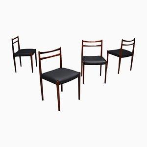 Dänische Esszimmerstühle aus Palisander, 1950er, 4er Set