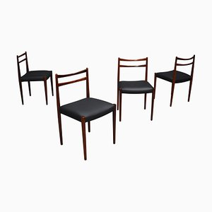 Danish Rosewood Dining Chairs, 1950s, Set of 4