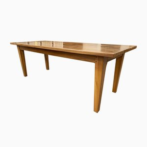 Solid Elm Dining Table, 1970s
