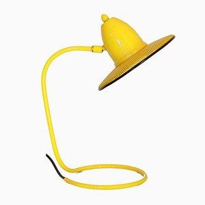 Lámpara de mesa vintage amarilla de Isao Hosoe para Valenti Luce, años 70