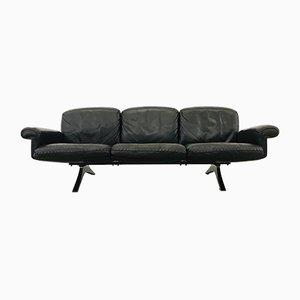 Sofá de tres plazas DS31 vintage de cuero marrón de de Sede