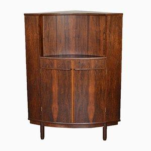 Danish Rosewood Corner Bar Cabinet, 1960s