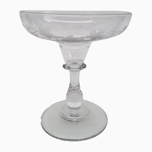 Antique Crystal Champagne Glass from Baccarat, 1900s