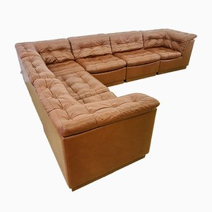 Patchwork Leather Modular Sofa from Laauser, 1970s