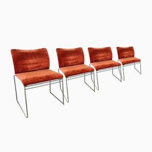 Esszimmerstühle mit Samtbezügen von Kazuhide Takahama für Simon, 1970er, 4er Set