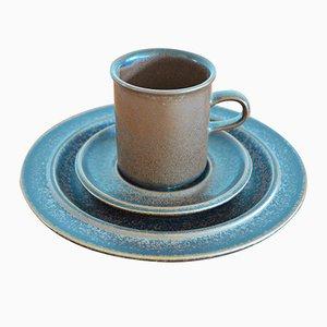 Juego de café Ruska de gres de Ulla Procope para Arabia, años 70