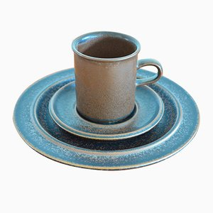Ruska Kaffeeservice aus Steingut von Ulla Procope für Arabia, 1970er