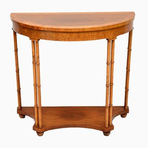 Vintage Walnut and Elm Console Table, 1970s