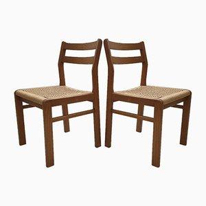 Dänische Mid-Century Esszimmerstühle mit Sitzflächen aus gewebtem Seil von Skovmand & Andersen, 1960er, 2er Set