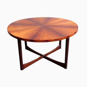 Rosewood Veneer and Teak Coffee Table, 1950s