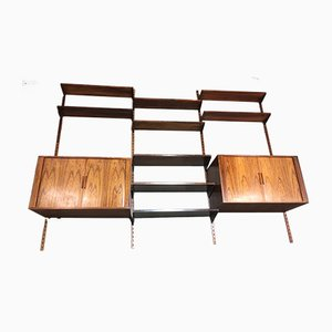 Rosewood Shelves by Kai Kristiansen for FM Møbler, 1950s