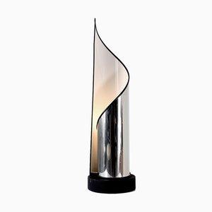 Italian Stainless Steel Table Lamp from Stilnovo, 1970s