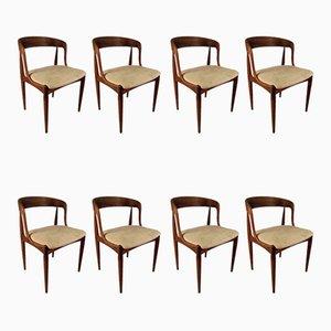Esszimmerstühle aus Palisander von Johannes Andersen für Uldum Møbelfabrik, 1960er, 8er Set