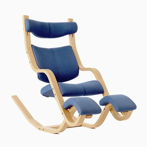 Norwegian Model Gravity Balans Lounge Chair by Peter Opsvik for Stokke, 1980s