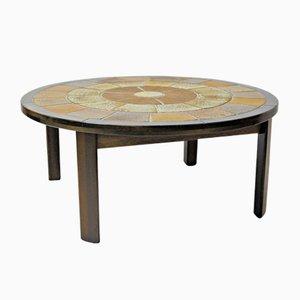 Table Basse en Chêne et Carreaux par Tue Poulsen pour Haslev Møbelsnedkeri, 1960s